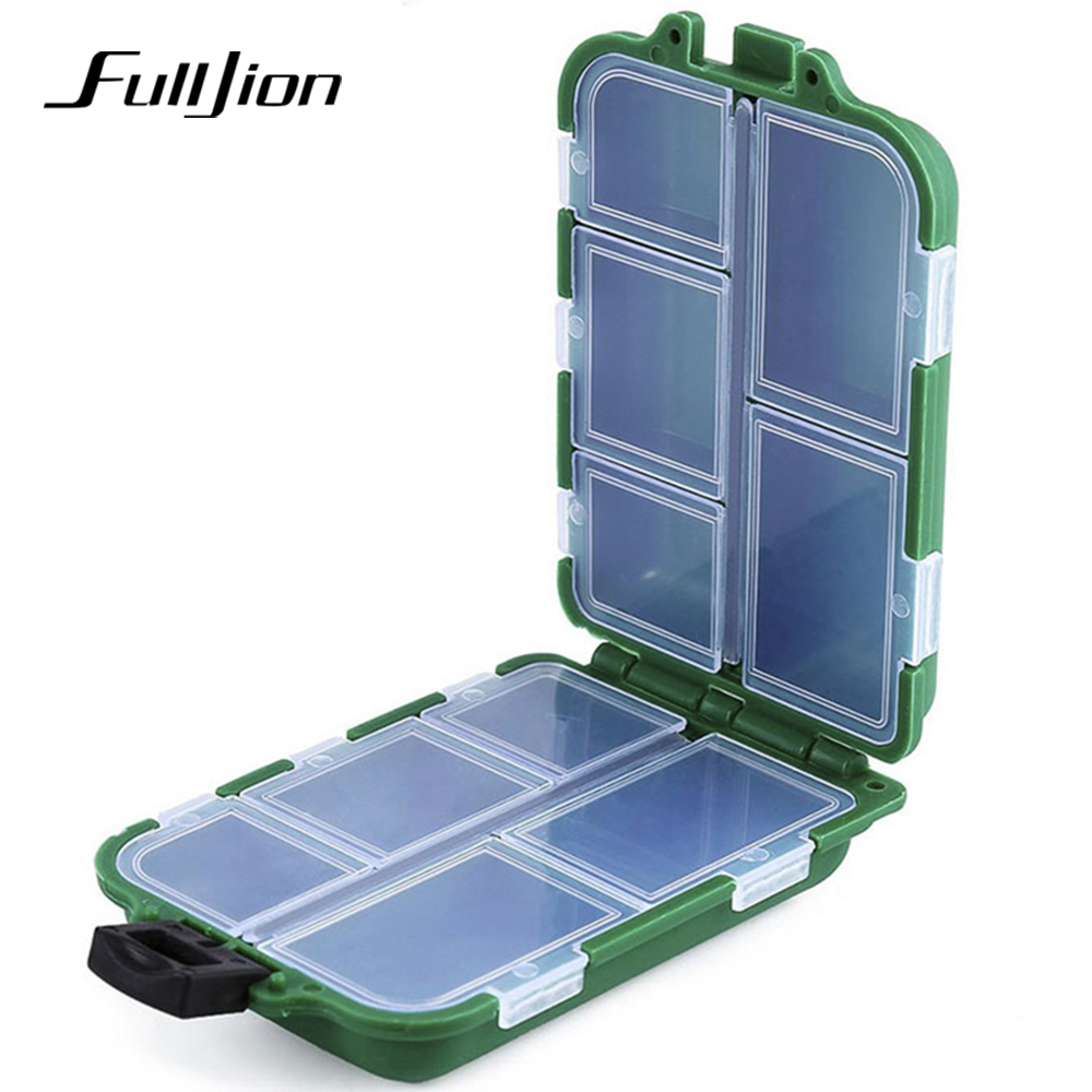 Fishing Lures Hook Spoon Bait Tackle Box Fishing Tools Small Accessory Plastic 10/12 Compartments Storage Case Box