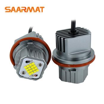 2 sztuk 80W wolne od błędów LED Angel Eyes światła sygnalizacyjne żarówki dla BMW E39 E53 E60 E61 E63 E65 E66 E87 525i 530i xi 545i X3 M5 X5 00-09 tanie i dobre opinie SAARMAT CN (pochodzenie) 6000 k