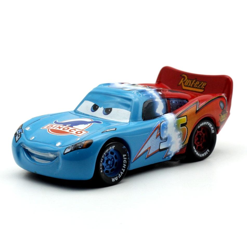 Disney Pixar Racing Cars 2 3 Toys Double Color Lightnig McQueen Mater Ramirez 1:55 Diecast Metal Alloy Toys Model Figures Boys