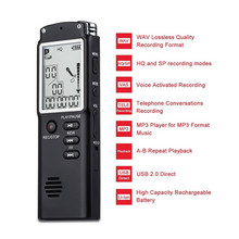 Rechargeable T60 Recording Digital Audio Voice Recorder with Real Time Display A Key Lock Screen Telephone MP3 WAV Player