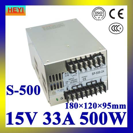 LED power supply  15V 33A 100~120V/200~240V AC input single output switching power supply 500W 15V transformer led power supply 27v 13a 100 120v 200 240v ac input single output switching power supply 350w 27v transformer