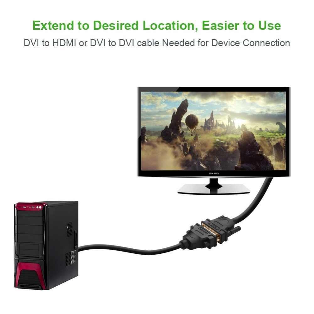 Ugreen ديسبلايبورت DP إلى أنثى DVI كابل HD 1080P مطلية بالذهب مع المزالج لتوصيل بطاقات الرسومات الخاصة بك/أبل الكمبيوتر بروجيتو