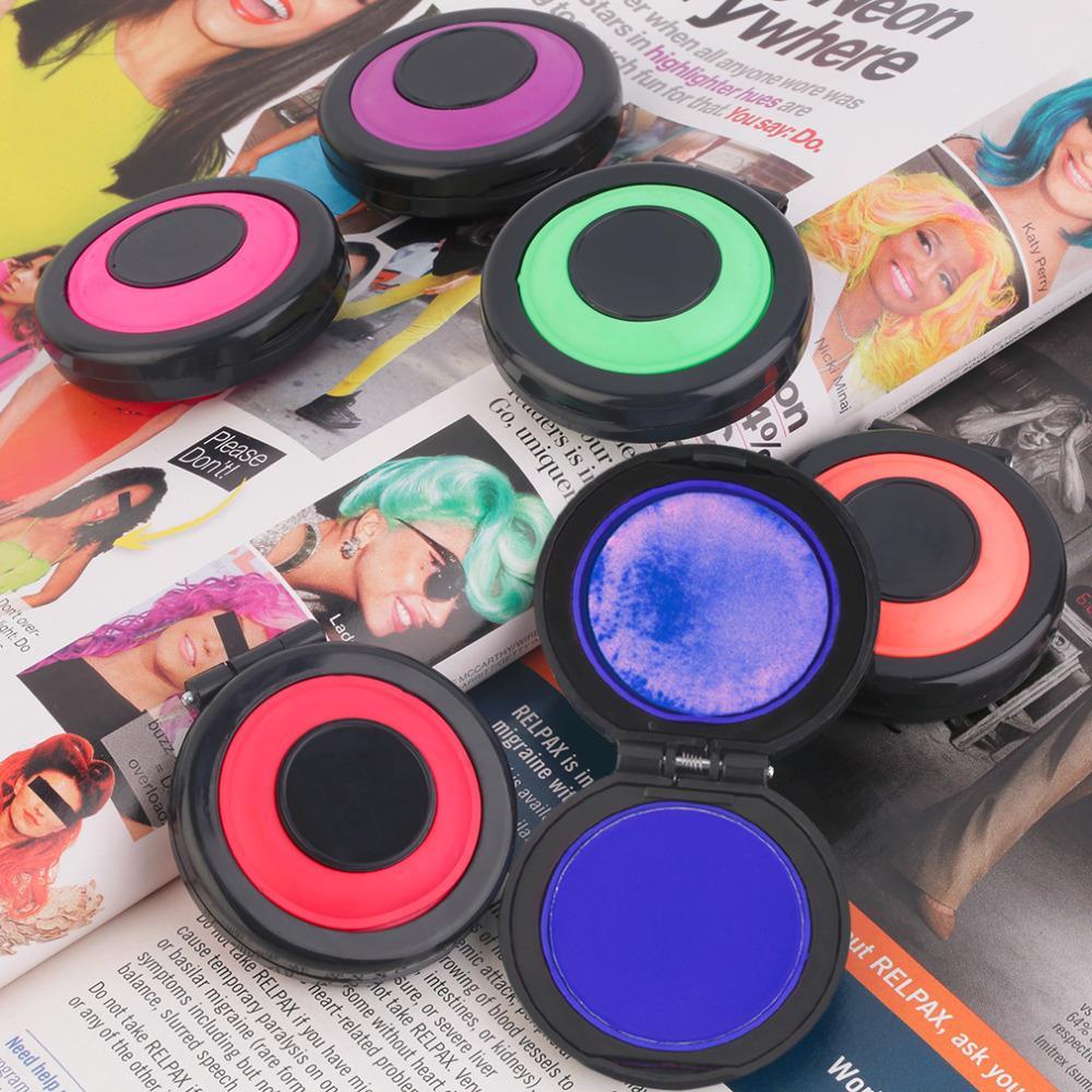 6 Hair Colors Non-toxic Healthy Temporary Hair Styling Soft Dye Powder Easy Wash Salon Beauty Tool Fashion Hot New
