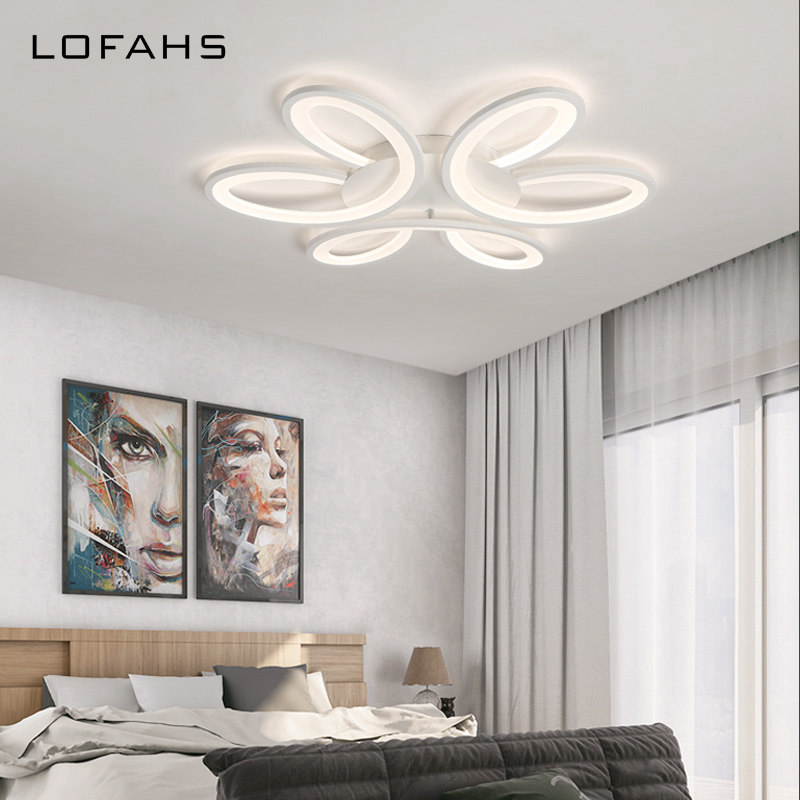 LOFAHS Modern LED ceiling lights for living dining room bedroom with remote control luxury acrylic ceiling lamp fixture pj406