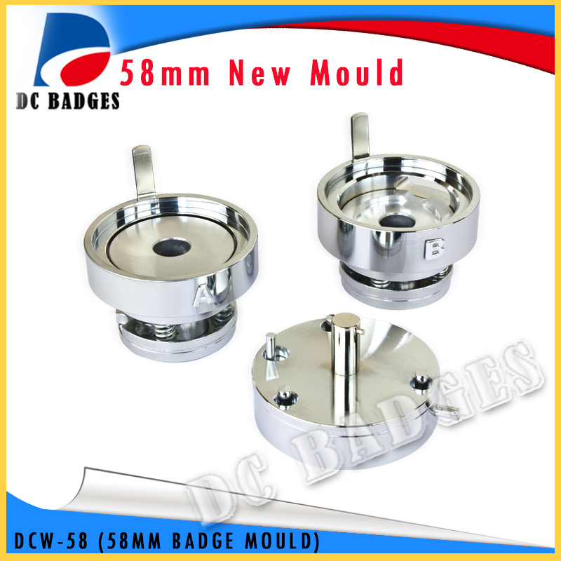 Metal Round Shape 58mm Interchangeable Button Maker Mould Die for Badge Press Machine industrial grommet button machine maker eyelet hand press tool for banner bags shoes mould suitable for 2mm id rivet nuts