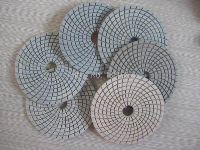 4'' economy Diamond wet flexible polishing pads for granite marble