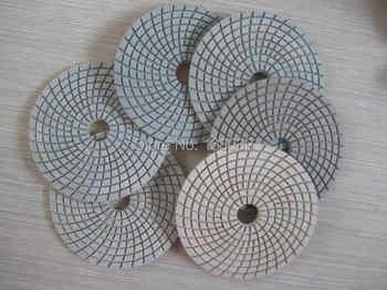 4\'\' economy Diamond wet flexible polishing pads for granite marble