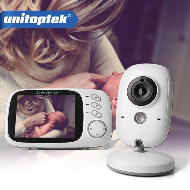 3,2 pulgadas 2,4 GHz Monitor de vídeo inalámbrico Color bebé de alta resolución niñera cámara de seguridad visión nocturna monitoreo de temperatura