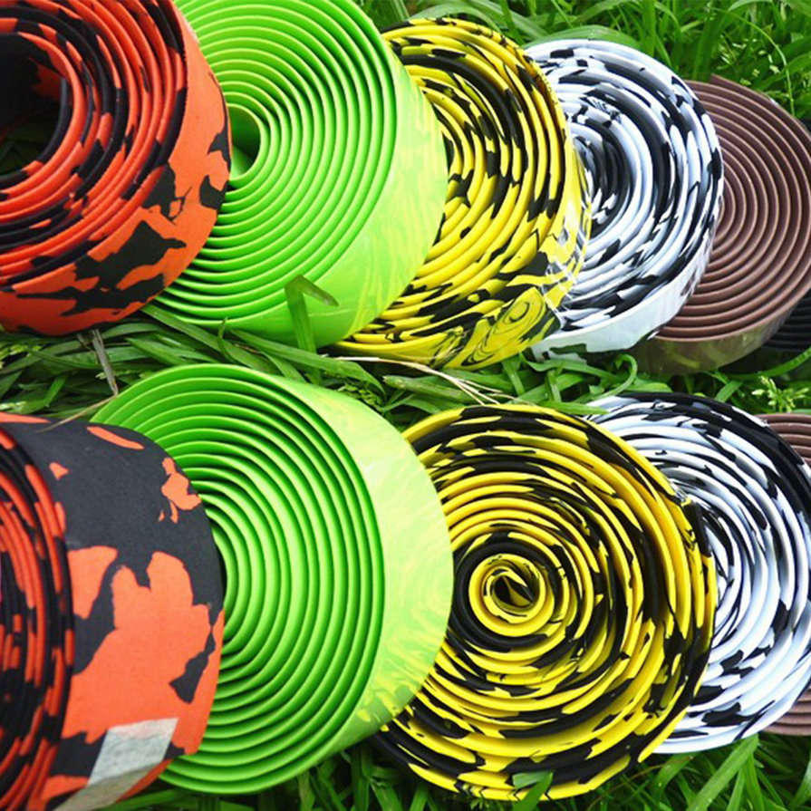1Pair Colorful Cycling Handle Belt Bike Bicycle Riding Cork Handlebar Tape Wrap Bar Stem Protective Belts Covers Wrapping Tools