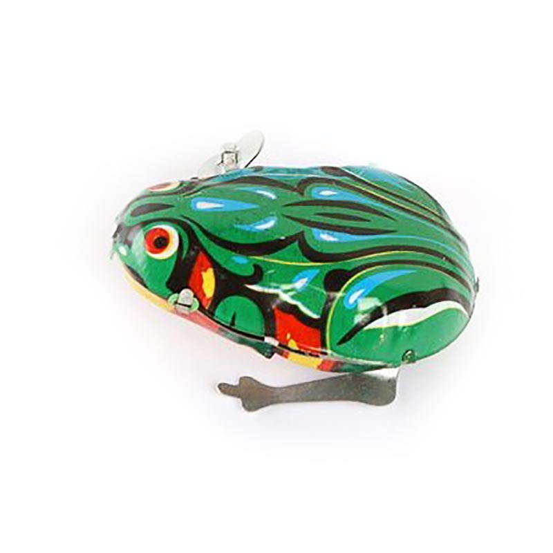 Frog Toy Action-Figures Tin-Toys Metal Clockwork Classic Wind-Up Jumping Vintage Kid