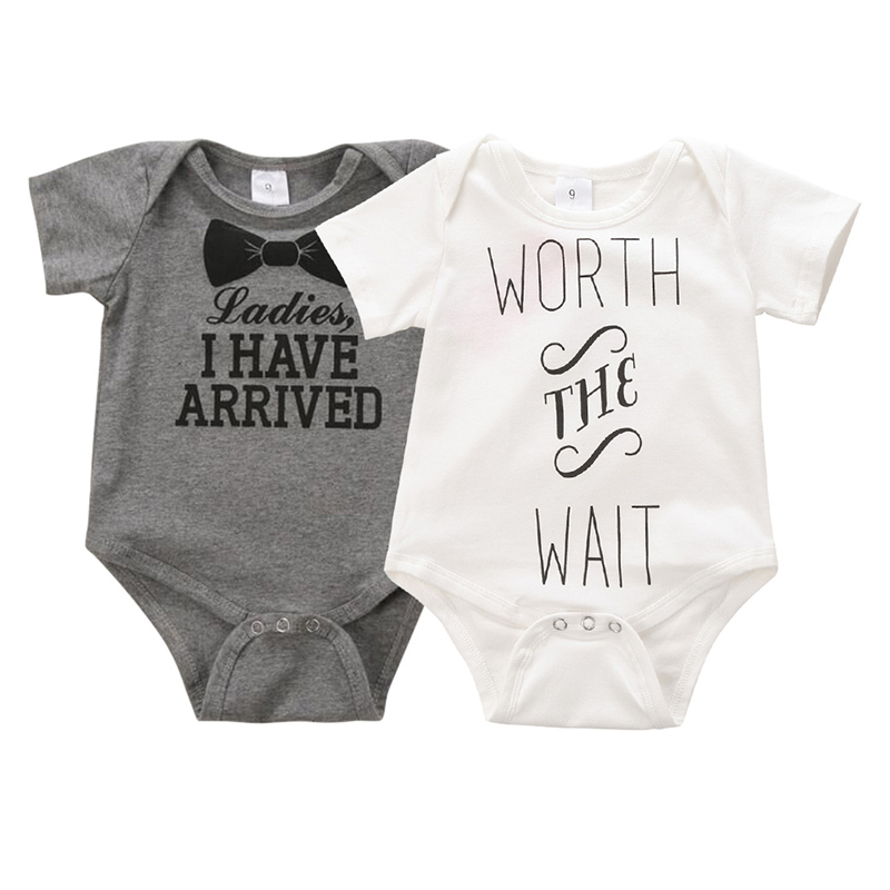 Newborn Letter Print Romper Baby Kids Boys Girls Cotton Clothes Bodysuit Jumpsuit Clothing Outfit  0-12Months Sets