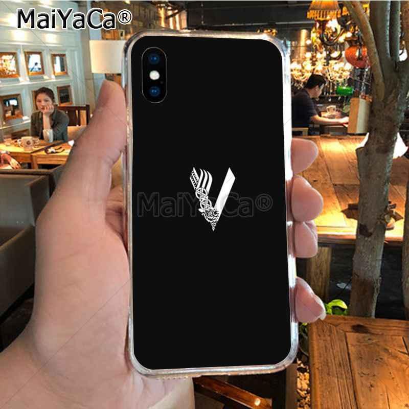 MaiYaCa TV mostrar vikingos suave tpu cubierta de la caja del teléfono para iPhone 8 7 6 6S Plus X XR XS MAX 5S SEcase shell