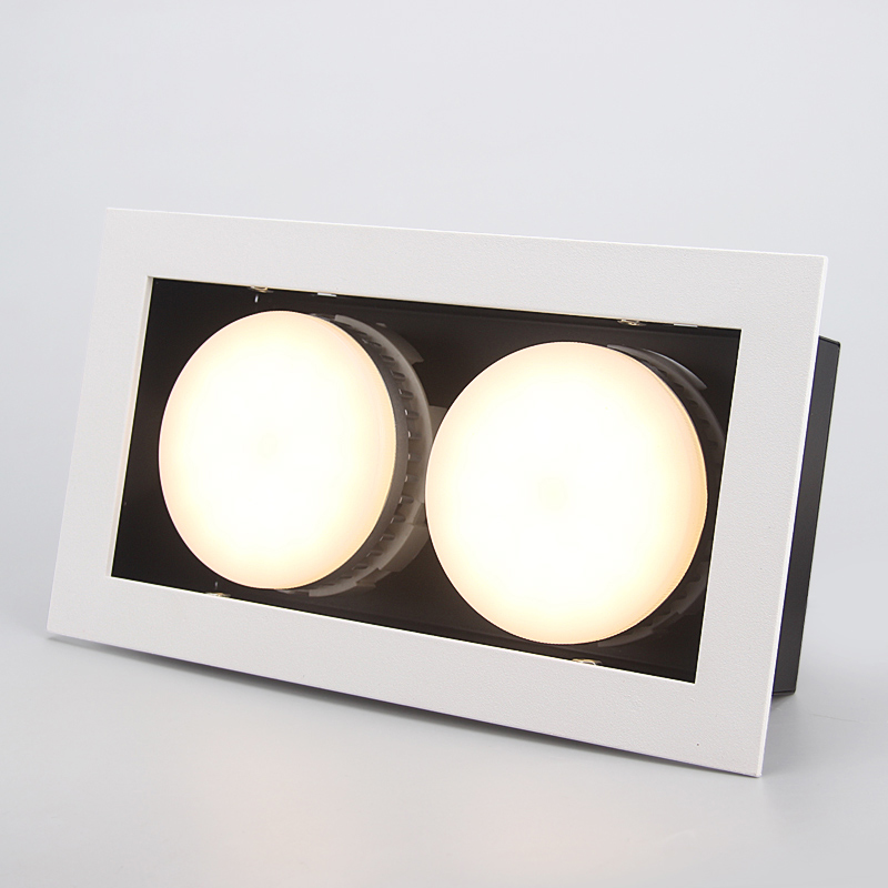 LED Plafonniers Double LED Intégrer spot lampes GX53 2x9 W modules led Encastré lampe de lumière au plafond Éclairage à la maison pour vivre chambre