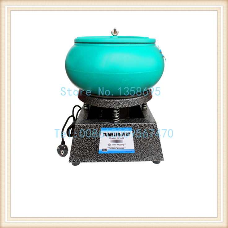 14.5kg Capacity Jewelry Tumble Polishing Machines Gem Polish Machine Large <font><b>Vibrating</b></font> <font><b>Rock</b></font> Tumbler