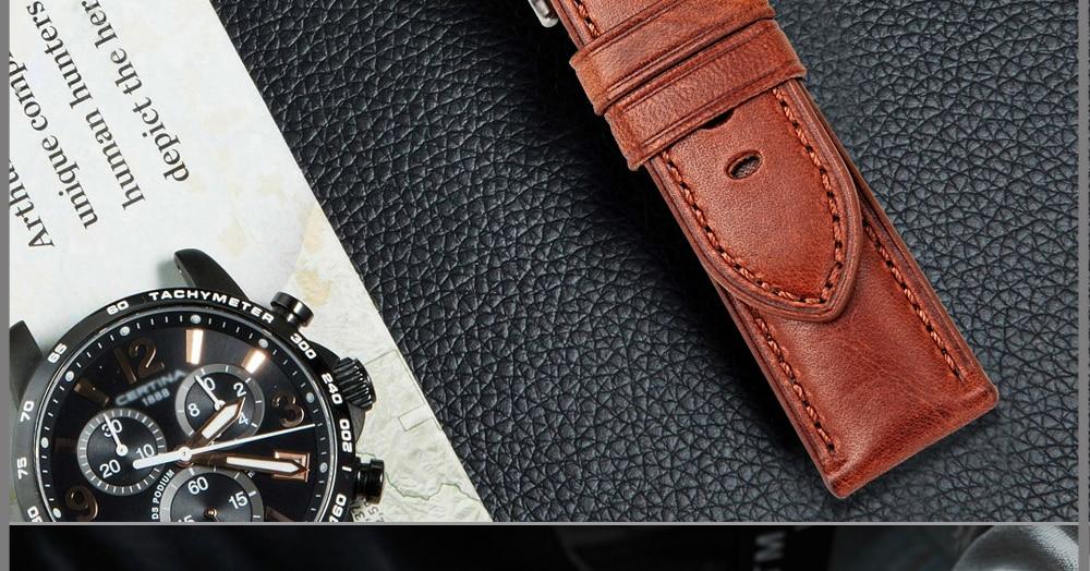 pulseira de couro genuíno bezerro brilhante acessórios