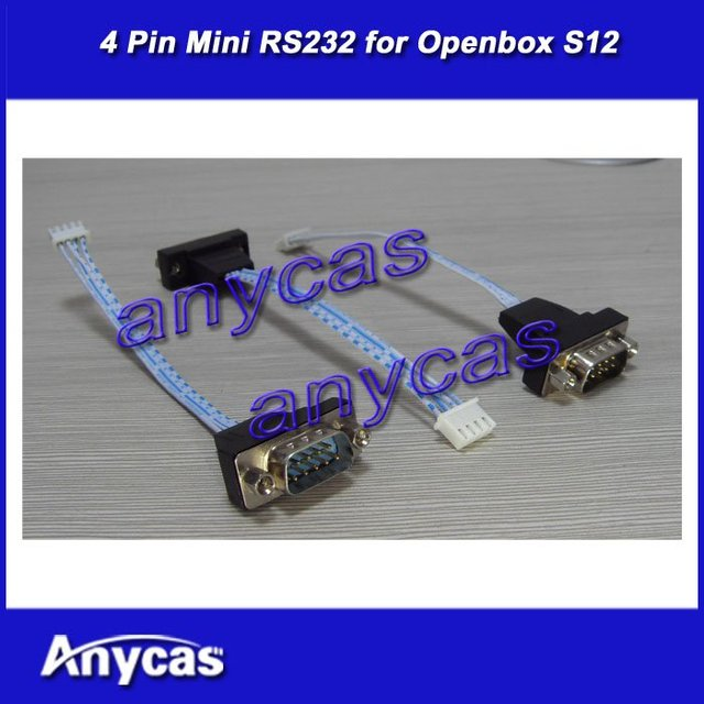 4 pin Mini RS232 cable for openbox s12 skybox s12 digital satellite receiver receptor hd decoder, free shipping