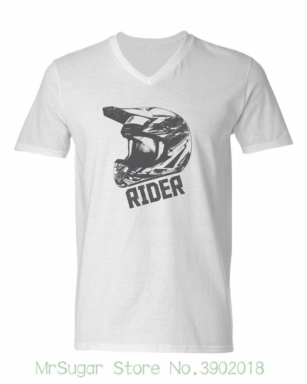 New Rider T-shirt Dirt Biker Helmet Racer Downhill Motocross Gear Biker Atv Moto New 2018 Cotton Short-sleeve T-shirt