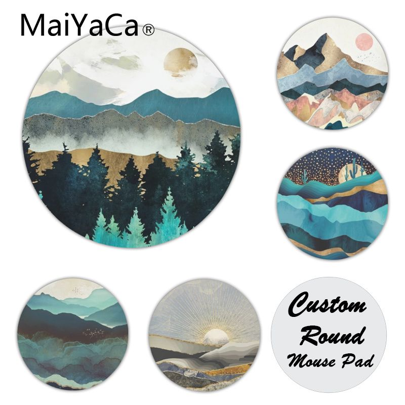 MaiYaCa In Stocked Indigo Mountains Large  Mouse Pad PC Computer Mat New Personalized Print Mousepad
