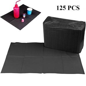 "Image 2 - 最新 125 ピース 13 ""× 18"" 黒タトゥークリーニングワイプ使い捨て歯科ビブ防水シート紙タトゥータトゥーアクセサリー"