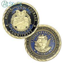 Wholesale 50/100pcs/lot US Navy Chief Petty Officer The Goat Anchored USN Navy Challenge Coins for Sale цена