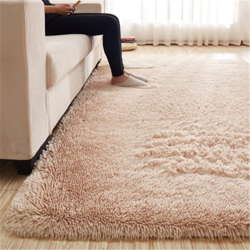 Free shipping 80 x 120cm Thickened washed silk hair non-slip carpet living room rug coffee table blanket bedroom yoga mat(China)