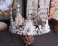 Continental retro hecho a mano de cristal CORONA de LA REINA tocado de la novia accesorios de la boda