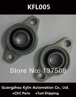 Hot!2pcs KFL005 FL005 flange bearing with pillow block 25mm caliber Zinc Alloy Pillow Block Bearing
