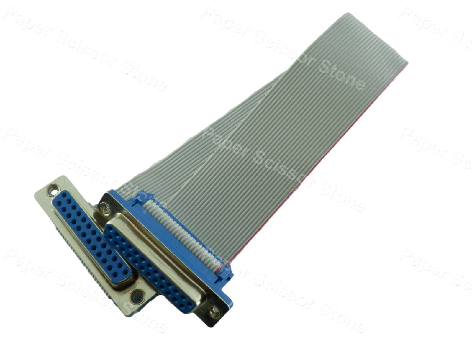 12 Inch DB25 Male to Male RS232 Serial Parallel Port Ribbon Flat Cable