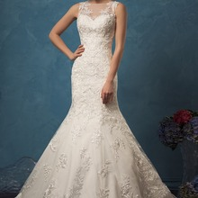 kejiadian Mermaid Wedding Dresses Sleeveless sweep Train