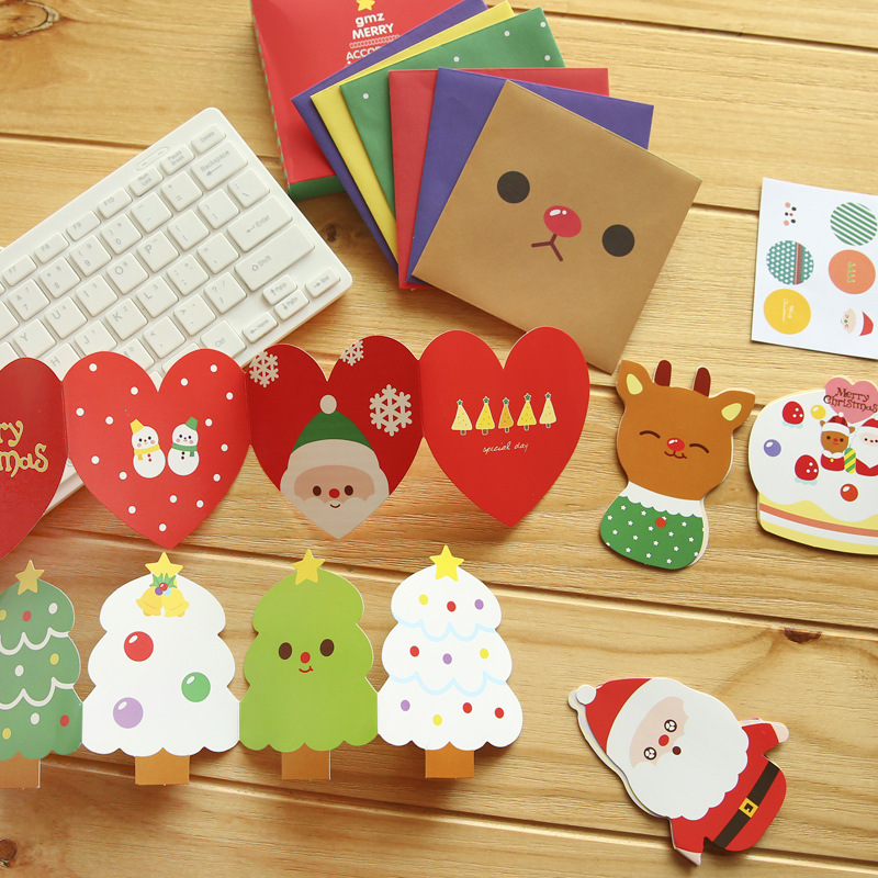 20Pcs/Set 10 Cards +10 Envelopes Mini Postcard /Greeting Card/Wish Card/Christmas And New Year Gifts