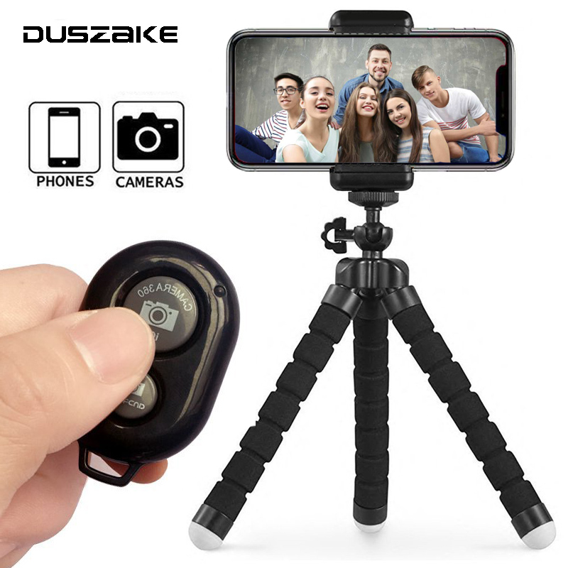 DUSZAKE Flexible Gorillapod Mini Tripod for Phone Camera Accessories Tripod Selfie Stick for iPhone Samsung Xiaomi Huawei Gopro duszake dt2 camera mini tripod for phone stand aluminum for iphone tripod for phone camera mini tripod for mobile gorillapod