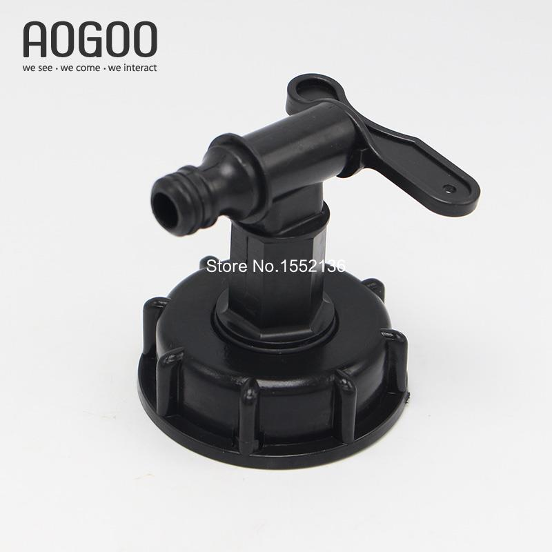 1000L IBC Tank Valves 60mm To 1/2 (15mm) Water Connector Tank Garden Hose Adapter Fittings Switch ibc water tank 62mm dn40 screwable ball valve square coarse thread