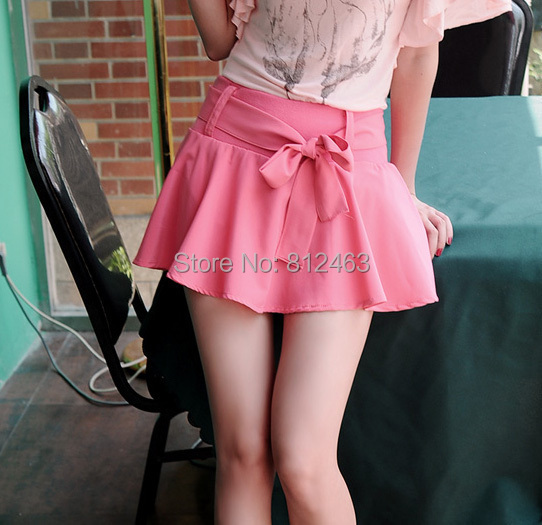 Hot womens summer mini skirt , 2015 new arrive women chiffon pantskirt fashion lady's short skirts - Netmall store