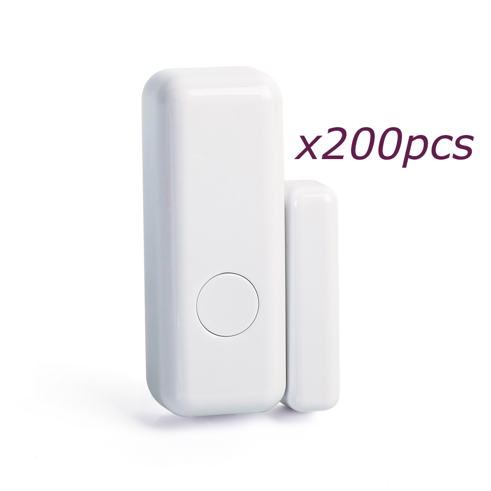 200pcs/lot Slim Design Anti-scratch Wireless Door Sensor Window Detector for House GSM Alarme Security System, Free Shipping low voltage motion sensor window door protecting fence beam detector for shop house security