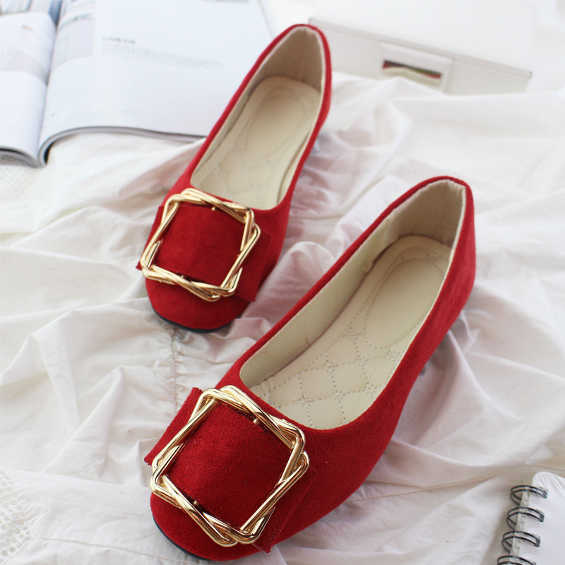 Big Size Women Flats Shallow Candy Color Shoes Woman Loafers Autumn Fashion Sweet Flat Casual Shoes Women Plus Size 35-42 16