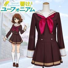 Som euphonium houmae kumiko kitauji uniforme escolar de manga longa traje cosplay frete grátis