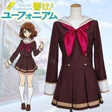Sound Euphonium Houmae Kumiko Kitauji Long Sleeve School Uniform Cosplay Costume Free Shipping