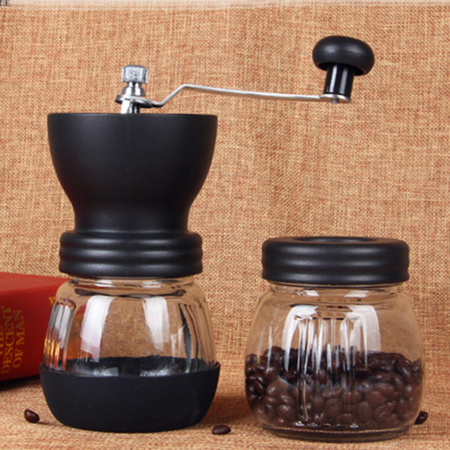 Coffee Grinder Hand Ceramic Manual ABS Ceramics Core Stainless Steel Burr grinder Kitchen Mini Manual Hand Coffee Grinder