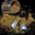 Репутация Акриловые УФ Nail Art Блеск Порошок Пыли Советы Украшения Лазерная Радуга Золото Макияж Блеск Art Советы Украшения N47