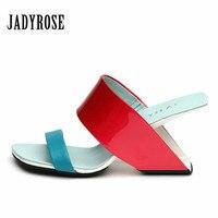 Strange Heel Women Sandals Summer High Heels Gladiator Sandal Wedge Shoes Woman Slippers Valentine Shoe Summer
