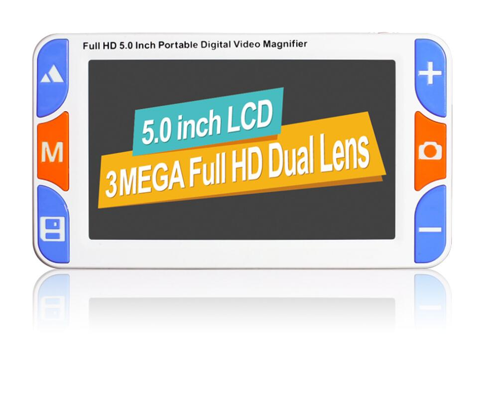 RS500S 5 LCD portable magnifier Low Vision Video Magnifier electronic reading aid Digital Handheld portable Video
