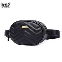 Fashion Women Wavy Lines Waist Belt Bag Fashion Circular Chest Bag Small Women Shoulder Bag Travel