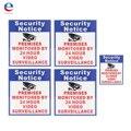 5x Locales Protegidos Por 24 Horas De Video Vigilancia Sticker Cámara de Seguridad
