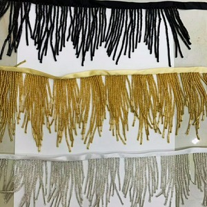 Image 1 - Handmade 7cm wide beaded fringe trim, 5yards/lot/color, accept custom order
