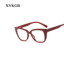 XYKGR simple fashion cat eye glasses frame ladies brand designer leopard lightweight comfortable