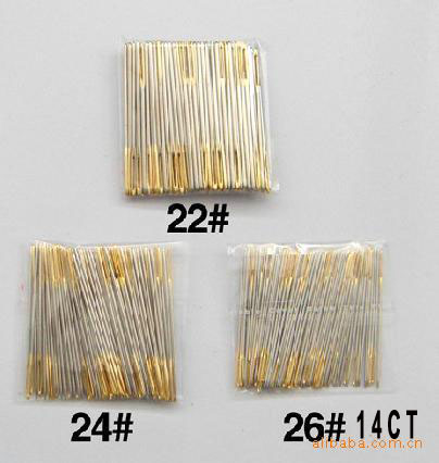 FREE Shipping Top Quality 26# 14CT Cross Stitch Needles, Embroidery Needles #26, 28 24 22 100pcs/bag