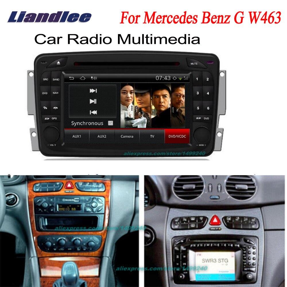 Liandlee 2 din voiture GPS Android Radio pour Mercedes Benz G W463 1998 ~ 2004 Navi Navigation cartes lecteur DVD écran HD OBD2 caméra TV