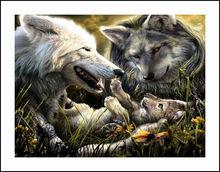 Wolf Family Diamond Embroidery 5D Painting Cross Stitch Mosaic Pattern Square Rhinestone needlework gift Home Decor G198