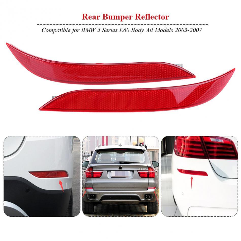 Rear Bumper Reflectors PAIR GENUINE OEM BMW 5 Series F10 Facelift 09