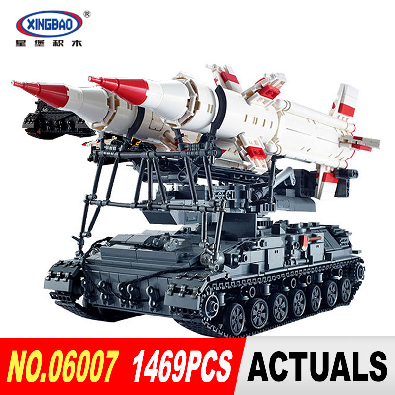 Xingbao 06007 1469Pcs Military Series The SA-4 Ganef Set Building Blocks Bricks for Children Educational Toys Model Gifts wange louvre of paris building blocks set model small architecture series 2017 classic educational toys for children gifts